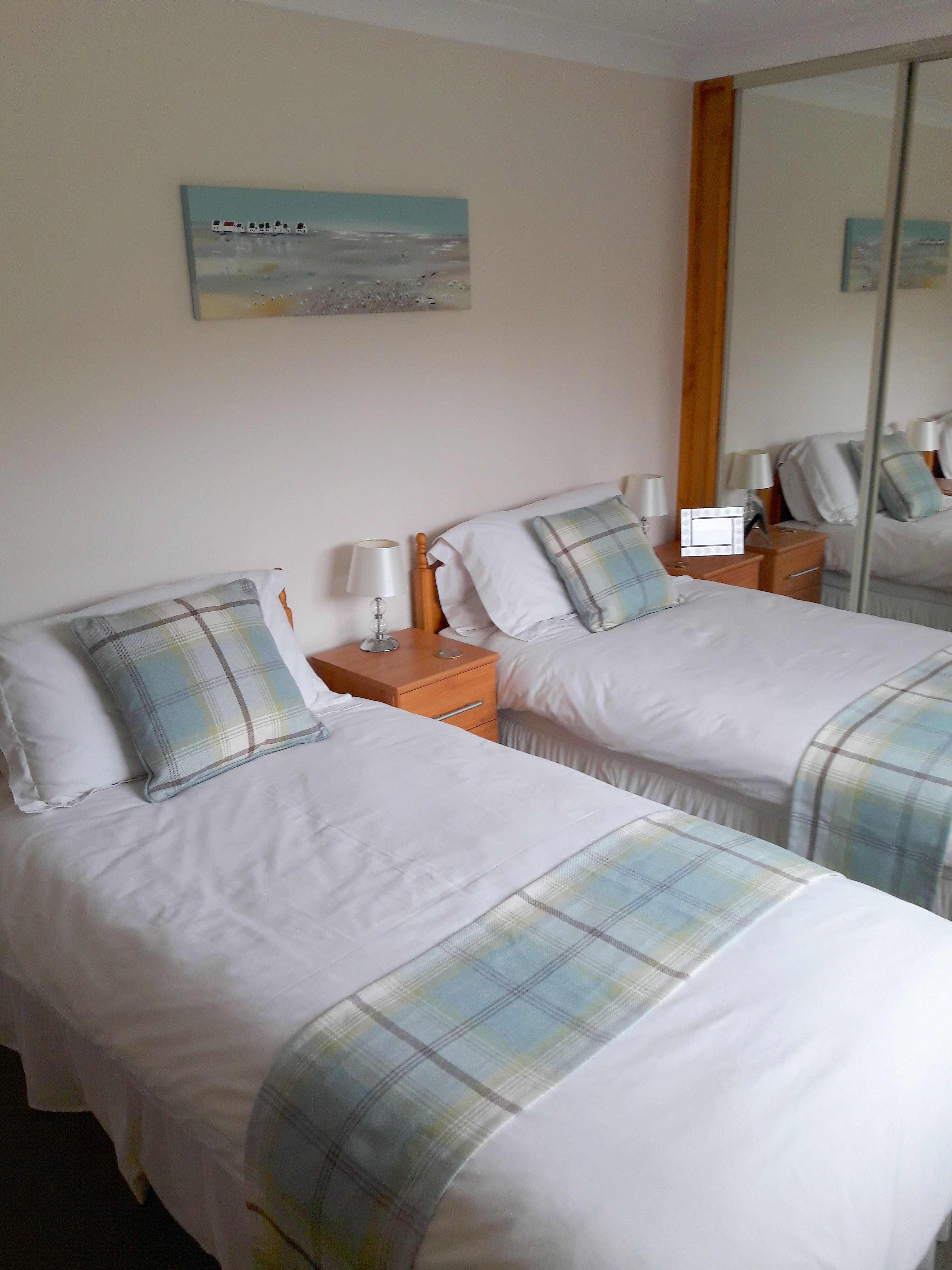 The bedroom at Otters Leap cottage, Skye